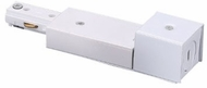 Cyber Tech TL-ECBX/WH Modern White Track Light End Connector for Conduit Box