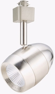 Cyber Tech TL60BTH-NS Modern Nickel Satin LED Dimmable Bullet Track Lighting Fixture Head