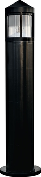 Dabmar D120-B Modern Black Exterior Fiberglass Bollard Path Lighting