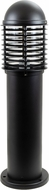 Dabmar D3390-B Contemporary Black Outdoor Landscape Lighting Bollard