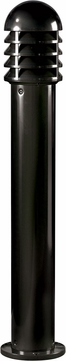 Dabmar D3400-LED60-B Modern Black LED Exterior Powder Coated Cast Aluminum Bollard Path Lighting
