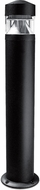 Dabmar D850-B Contemporary Black Outdoor Residential Landscape Lighting Bollard