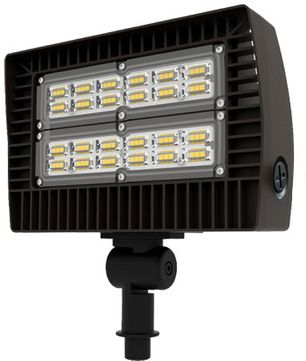 Dabmar DF-LED5750-BZ Slim Flood Light Modern Bronze LED Exterior Landscape Flood Light Fixture