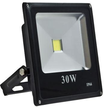 Dabmar DF-LED5962-B Slim Flood Light Contemporary Black LED Outdoor Landscape Home Security Lighting