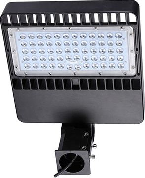 Dabmar DF-LED7760 Large Flood Light Modern Black LED Exterior Landscape Home Security Lighting