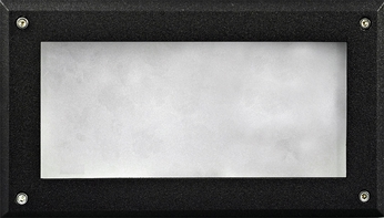 Dabmar DSL1001-B Contemporary Black Exterior Recessed Open Face Step Light