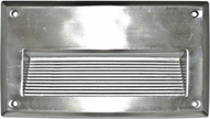 Dabmar DSL1003-SS Electro-Plated Stainless Steel Outdoor Recessed Step Lighting Fixture