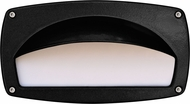 Dabmar DSL1014-B Modern Black Exterior Recessed Hooded Step Light Fixture