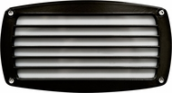 Dabmar DSL1015-B Black Exterior Recessed Louvered Step Light Fixture