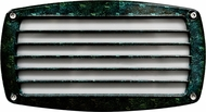 Dabmar DSL1015-VG Verde Green Exterior Recessed Louvered Step Light