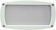 Dabmar DSL1016-W Modern White Exterior Recessed Open Face Step Light Fixture