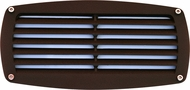 Dabmar DSL1017-BZ Bronze Exterior Recessed Louvered Step Light