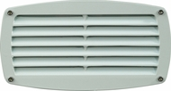 Dabmar DSL1017-W White Exterior Recessed Louvered Step Light Fixture