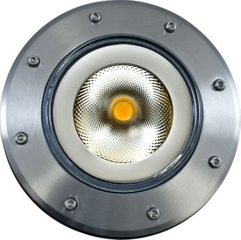 Dabmar DW4751-LED18F-SS304 Medium In-Ground Contemporary Stainless Steel LED Outdoor Well Light Flood Lamp