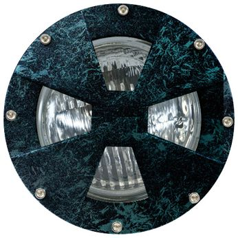 Dabmar DW4780-VG Medium Drive Over Contemporary Verde Green Outdoor Well Lamping