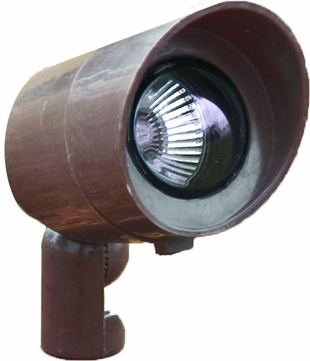 Dabmar FG132-BZ Bronze Halogen Outdoor Fiberglass Directional Landscape Spot Light with Hood