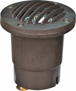 Dabmar FG317-BZ Contemporary Bronze Halogen Exterior In-Ground Well Lighting with Grill
