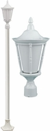 Dabmar GM1101-LED16-W Gabriella White LED Outdoor Post Light