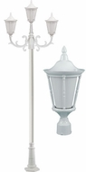 Dabmar GM1103-LED16-W Gabriella White LED Outdoor Pole Lighting Fixture