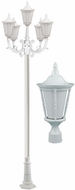 Dabmar GM1105-LED16-W Gabriella White LED Outdoor Post Light Fixture