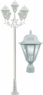 Dabmar GM1305S-LED16-W Daniella White LED Outdoor Pole Lighting Fixture