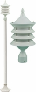 Dabmar GM1801-W Stephanie White Outdoor Lamp Post Light Fixture