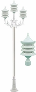 Dabmar GM1803-LED16-W Stephanie White LED Outdoor Post Lamp
