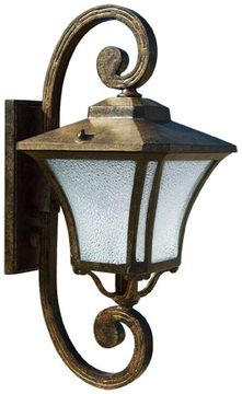 Dabmar GM211-DS Large Wall Dark Bronze Stone Exterior Wall Lighting