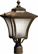 Dabmar GM212-DS Small Post Mount Dark Bronze Stone Exterior Lamp Post Light Top