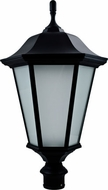 Dabmar GM225-LED30-B-FROST Large Post Top Black LED Outdoor Lamp Post Light Fixture Top