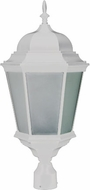 Dabmar GM235-W-FROST Post Top White Outdoor Post Light Fixture Top