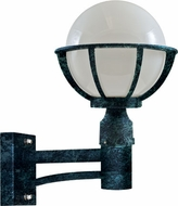 Dabmar GM265-VG Cast Aluminum Globe Contemporary Verde Green Outdoor Wall Lamp