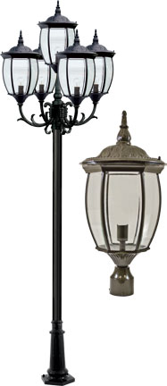 Dabmar Gm3005 Led16 Bz Victoria Bronze Led Outdoor Lamp Post Light Fixture