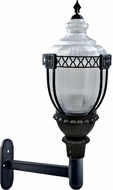 Dabmar GM670-B Clear Acorn Contemporary Black Exterior Wall Mounted Lamp