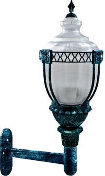 Dabmar GM670-LED120-VG Clear Acorn Contemporary Verde Green LED Exterior Wall Lighting