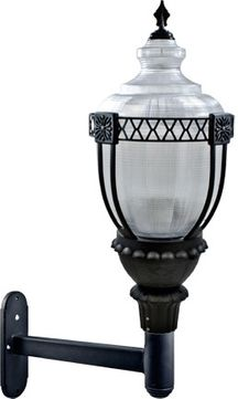 Dabmar GM670-LED75-B Clear Acorn Modern Black LED Outdoor Wall Light Fixture