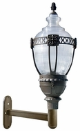 Dabmar GM670-LED75-BZ Clear Acorn Contemporary Bronze LED Exterior Wall Mounted Lamp