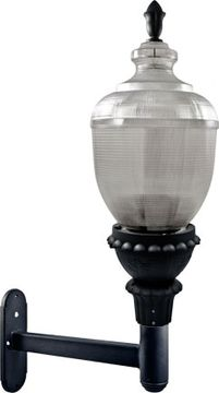 Dabmar GM690-LED120-B Clear Acorn Contemporary Black LED Exterior Wall Light Fixture