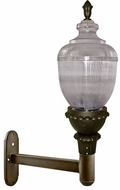Dabmar GM690-LED75-BZ Clear Acorn Contemporary Bronze LED Exterior Wall Lamp
