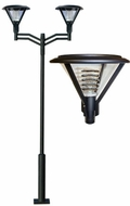 Dabmar GM9520-LED16-B Architectural Contemporary Black LED Outdoor Post Light Fixture