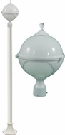 Dabmar GM9701-LED16-W Natalie Contemporary White LED Outdoor Post Lighting Fixture