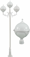Dabmar GM9703-LED16-W Natalie Contemporary White LED Outdoor Lamp Post Light