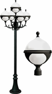 Dabmar GM9705-LED16-B Natalie Contemporary Black LED Outdoor Post Lighting Fixture
