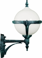Dabmar GM985-VG Verde Green Outdoor Powder Coated Cast Aluminum Wall Mounted Lamp