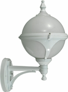 Dabmar GM985-W White Exterior Powder Coated Cast Aluminum Wall Light Sconce