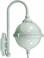 Dabmar GM986-W White Outdoor Powder Coated Cast Aluminum Wall Sconce Light