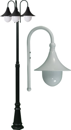 Dabmar Gm9903 Led16 W Marquee Contemporary White Led Outdoor Post Lighting Fixture