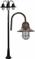 Dabmar GM9913-LED16-BZ Marquee Contemporary Bronze LED Outdoor Lamp Post Light
