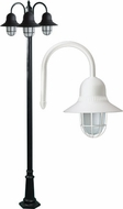 Dabmar GM9913-LED16-W Marquee Contemporary White LED Outdoor Lighting Post Light