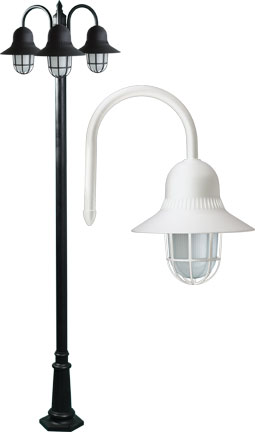 Dabmar GM9913 W Marquee Contemporary White Outdoor Post Lighting Fixture    DAB GM9913 W